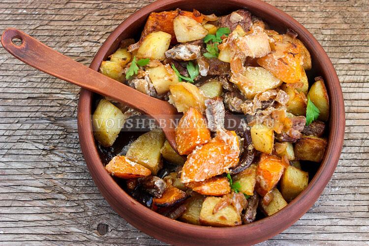 tykva s myasom i kartofelem 8