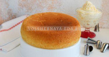 Бисквит в мультиварке пышный для торта