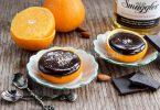 Шоколадный фондан в апельсине
