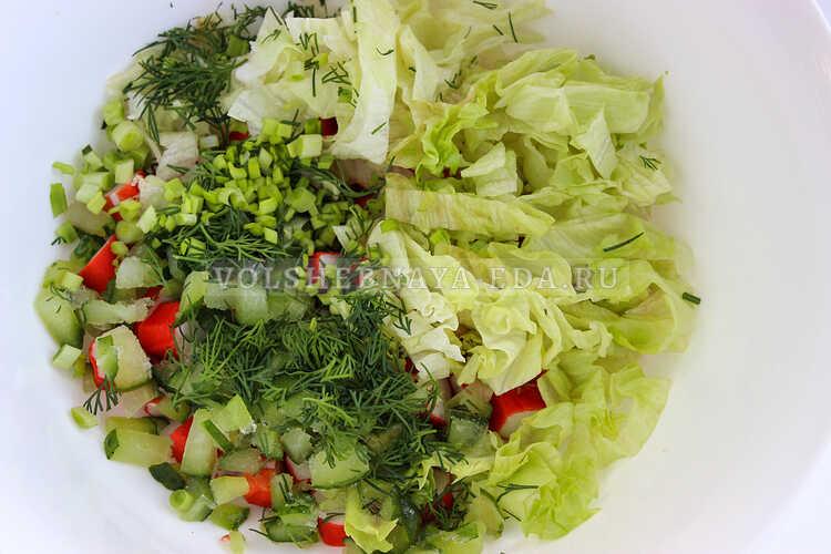salat iz krabovyh palochek nezhnost 3