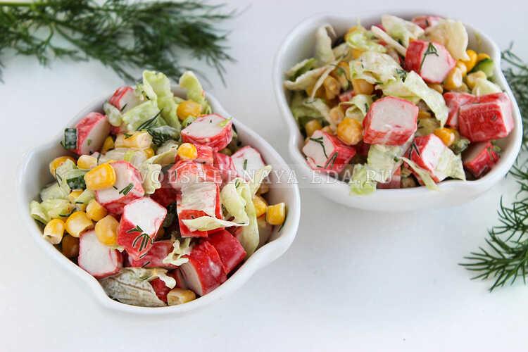 salat iz krabovyh palochek nezhnost 7