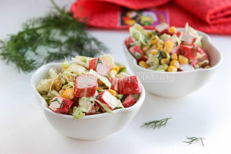 salat iz krabovyh palochek nezhnost 8