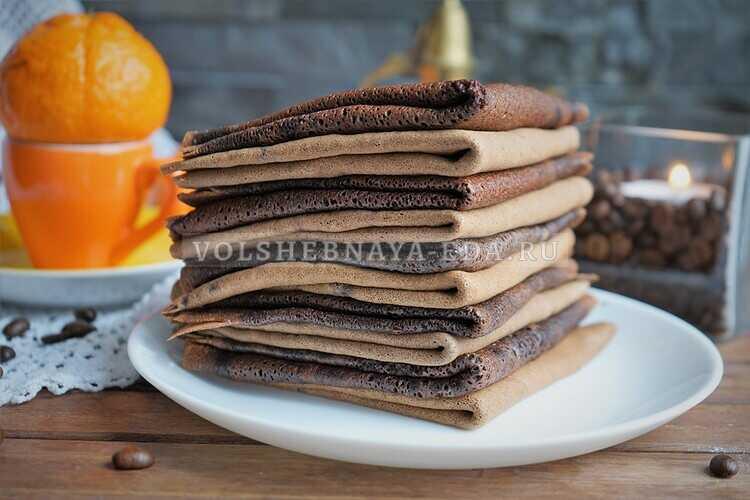 Шоколадно-кофейные блинчики