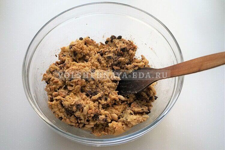 shokoladnoe biskotti s arahisom 11