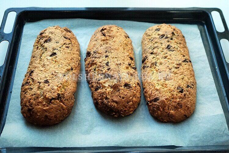 shokoladnoe biskotti s arahisom 13