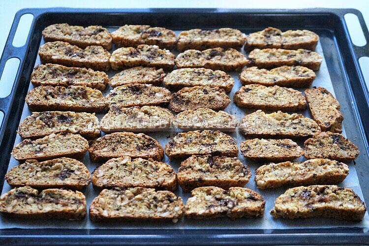 shokoladnoe biskotti s arahisom 15