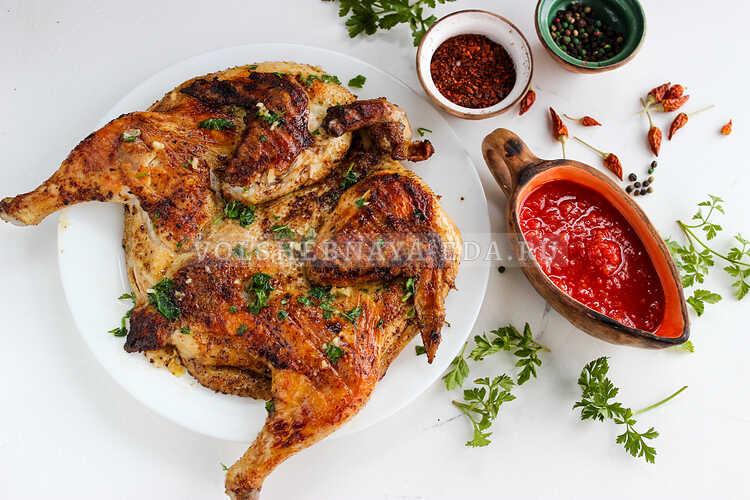 Цыпленок табака в сванской соли