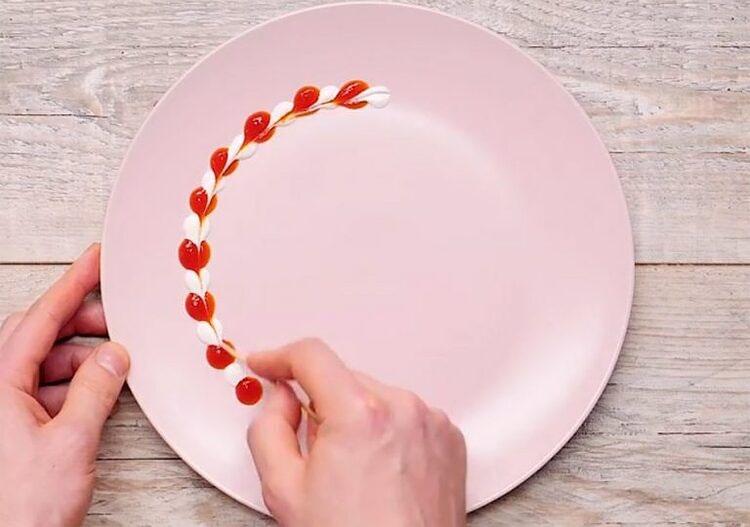 Украшаем тарелку