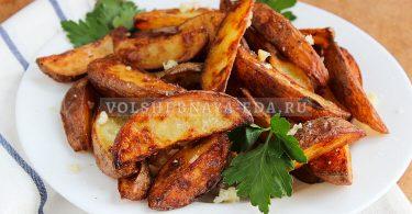 Запеченная картошка с чесноком