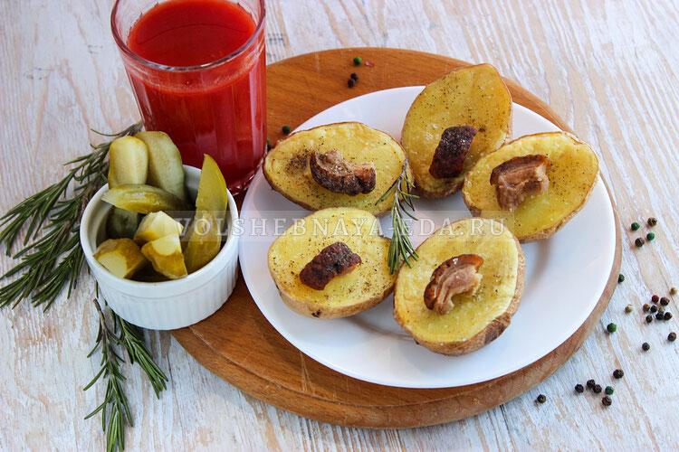 Картофель с салом в микроволновке