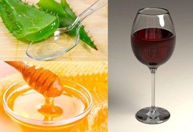 Вино с алоэ и медом