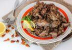 Жареная куриная печень с луком (острая)