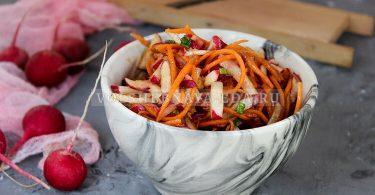 Салат из моркови и редиса по-корейски