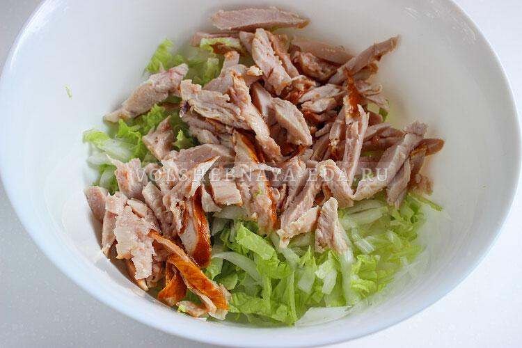 salat s kopchenoj kuricej 3