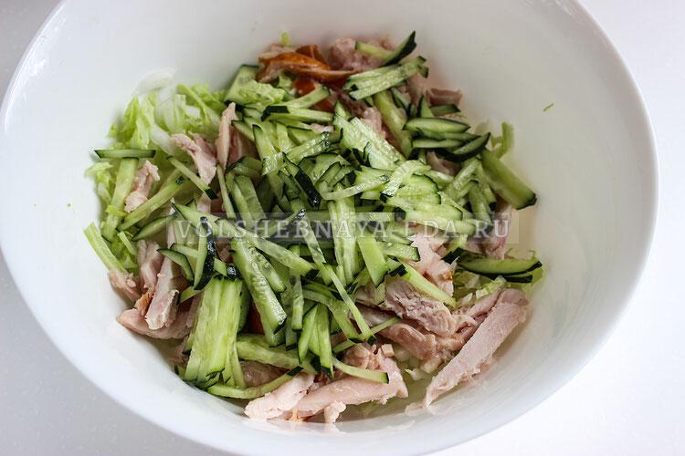 salat s kopchenoj kuricej 4