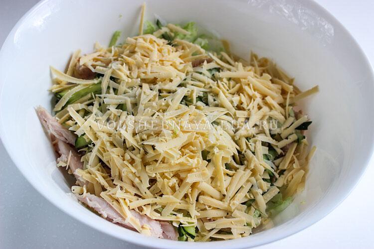 salat s kopchenoj kuricej 5