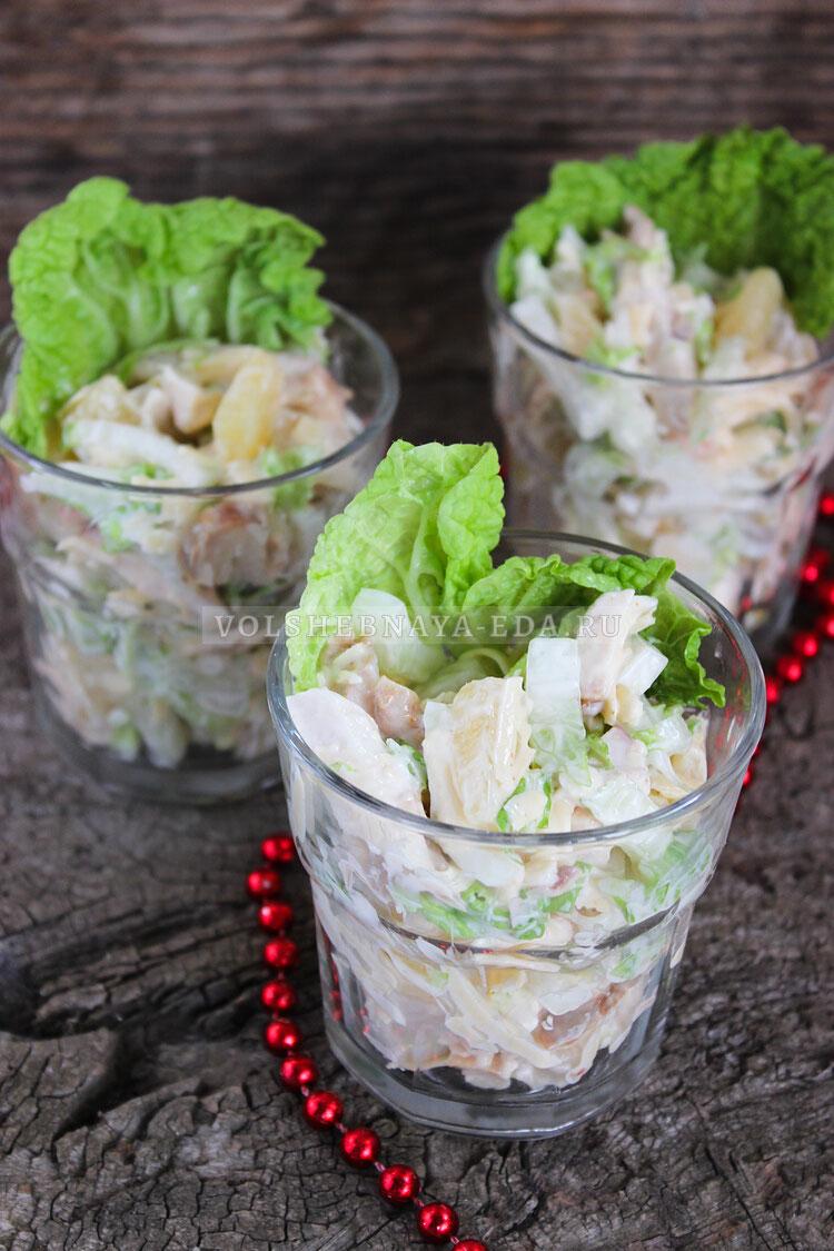 salat s kuricej ananasami i syrom 9