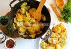 Тушеная картошка с луком по-узбекски