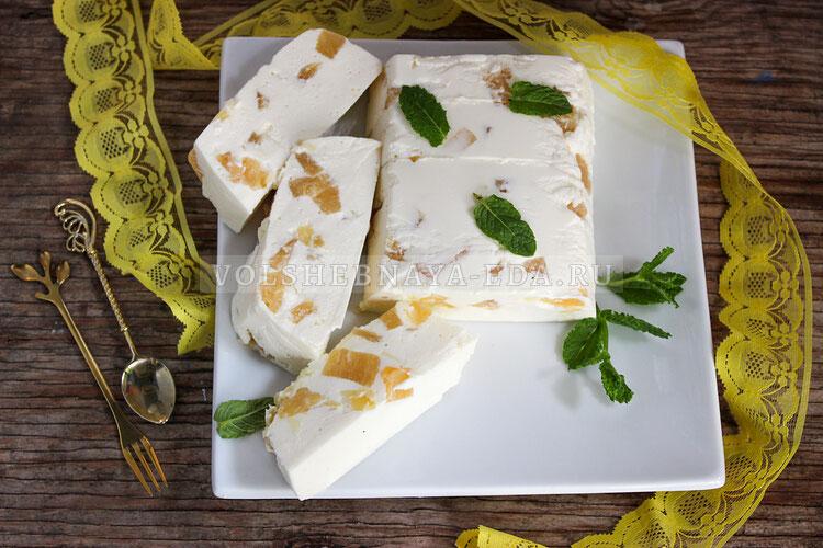 Творожный десерт с ананасами