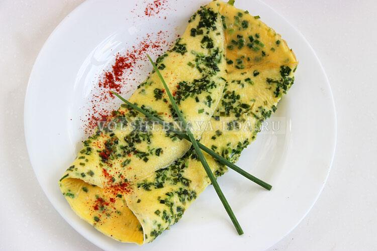 omlet s zelenym lukom 8