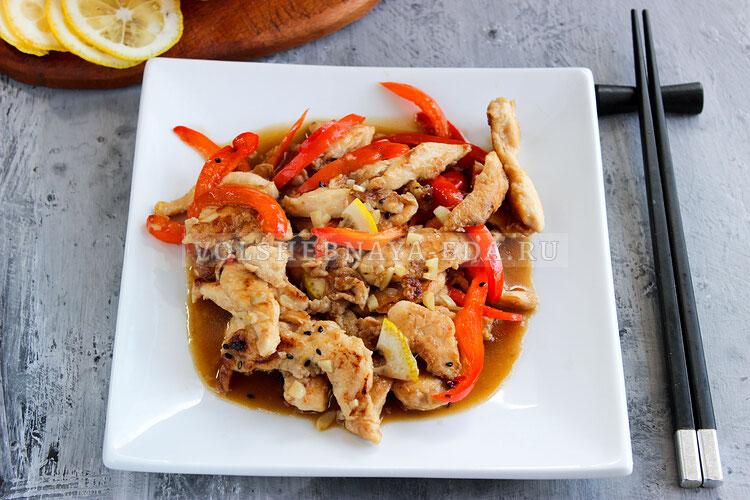 Курица в лимонном соусе по-китайски