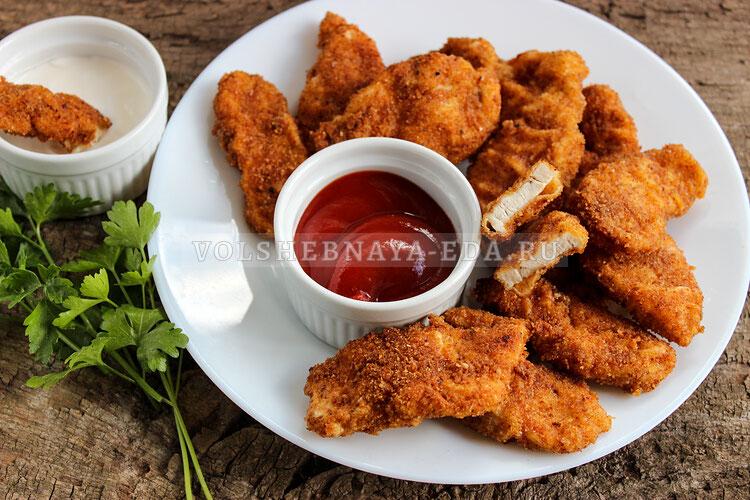 Куриные наггетсы в домашних условиях