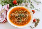 Суп харчо с рисом и томатной пастой