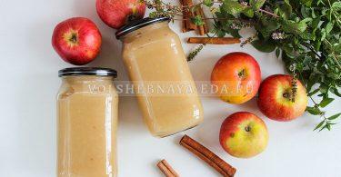 Яблочное пюре с корицей без сахара