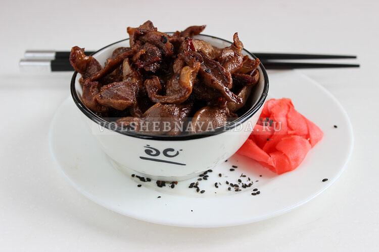 Куриные желудки по-китайски