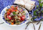 Салат из запеченных баклажанов и перца