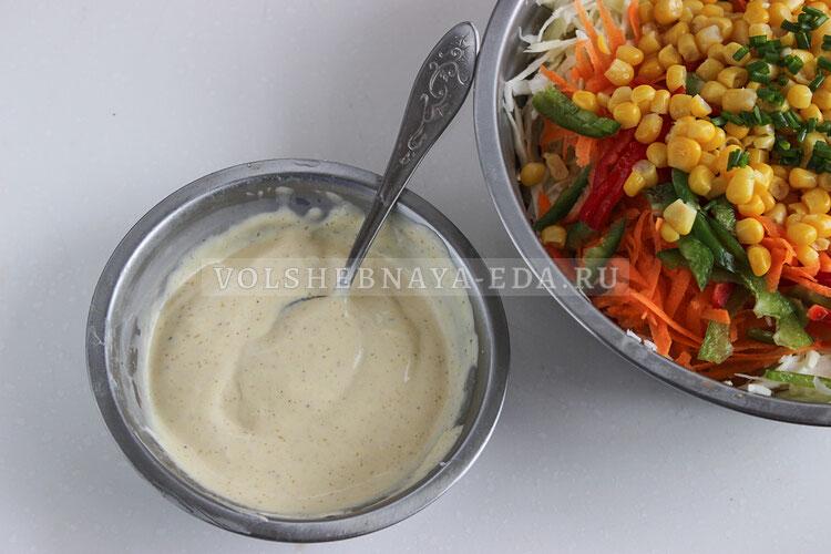 salat is kapusty s kukuruzoj 5