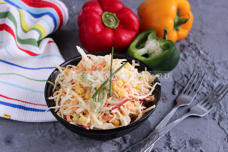 salat is kapusty s kukuruzoj 7