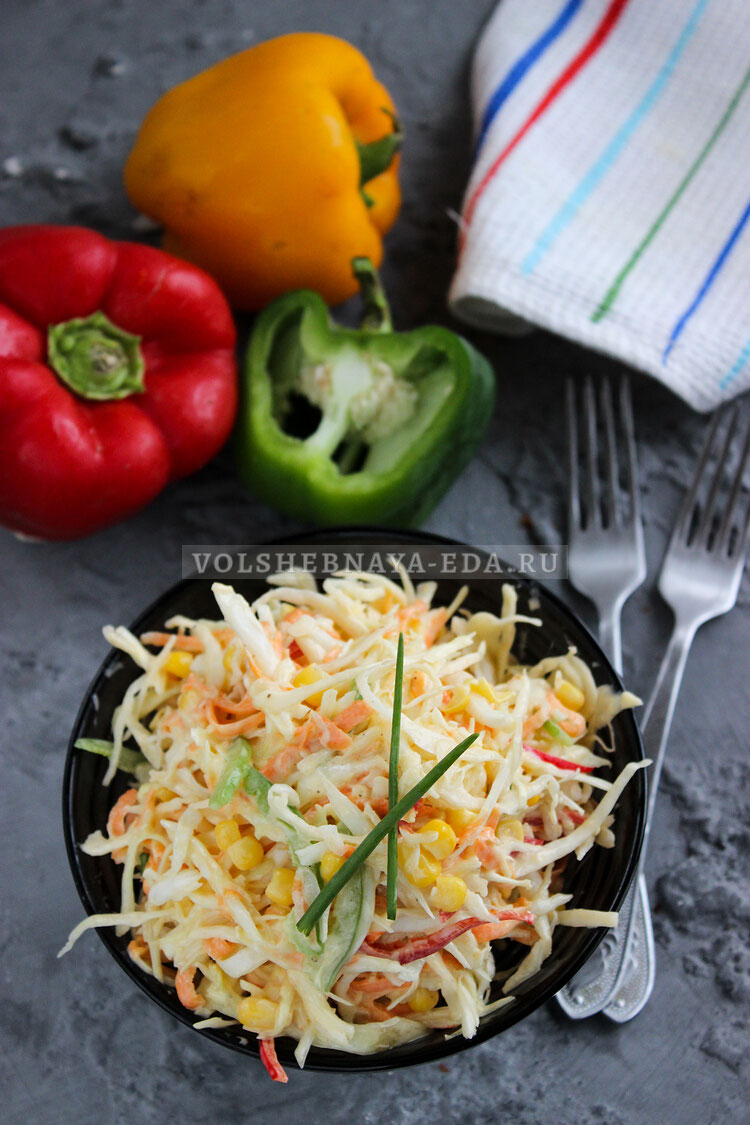 salat is kapusty s kukuruzoj 9