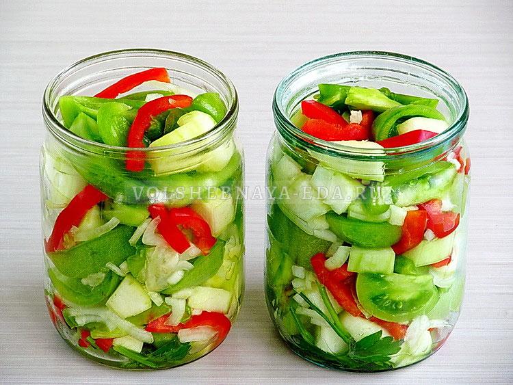 salat iz zelyonyh pomidorov s kabachkami 10