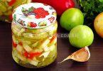 Салат из зелёных помидоров с кабачками