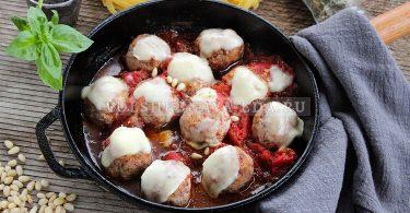 Митболы из куриного филе по-итальянски