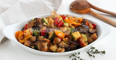 Рататуй — рецепт на сковороде