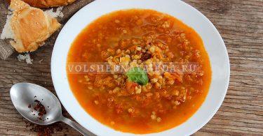 Суп из чечевицы с томатами
