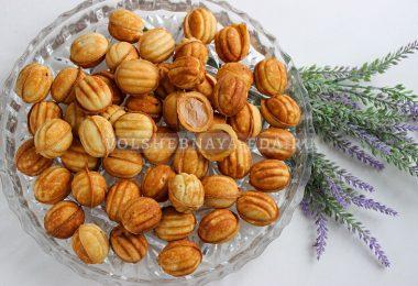 Орешки со сгущенкой (тесто на сметане)
