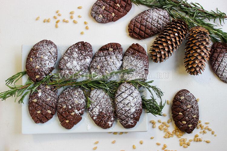 Печенье «Шишки в снегу»
