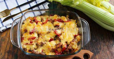 Отбивные с картошкой и овощами в духовке