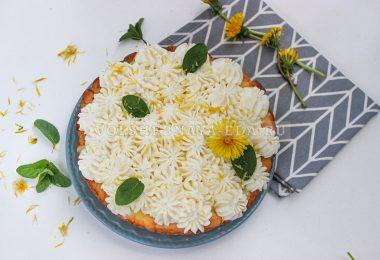 Тарт с лимонным курдом и кремом