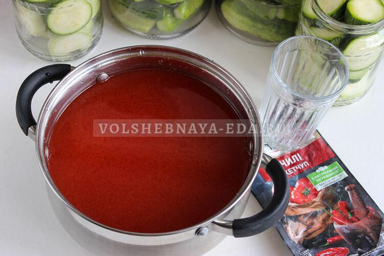 kabachki v ketchupe chili 4