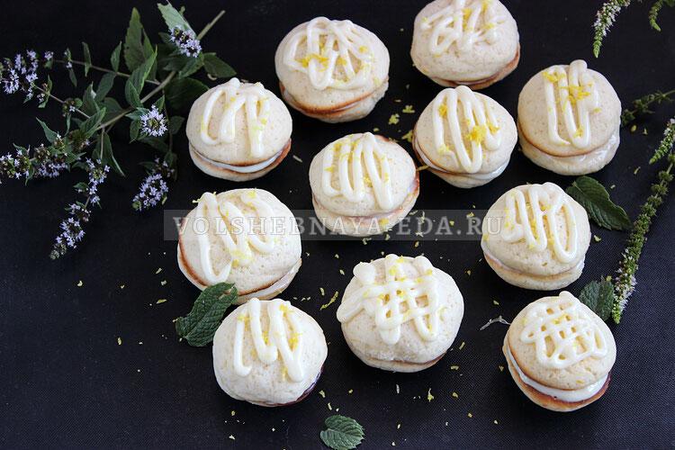 Лимонное печенье с кремом