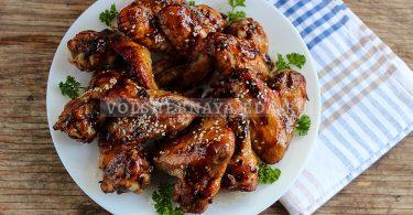 Куриные крылышки в соусе терияки в духовке