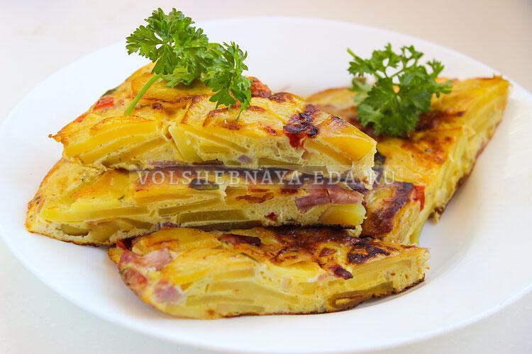 Испанский омлет с картофелем