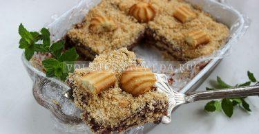 Торт без выпечки из пудинга и печенья
